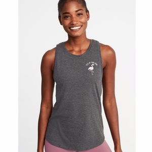 NWT Relaxed Graphic Performance Muscle Tank Top